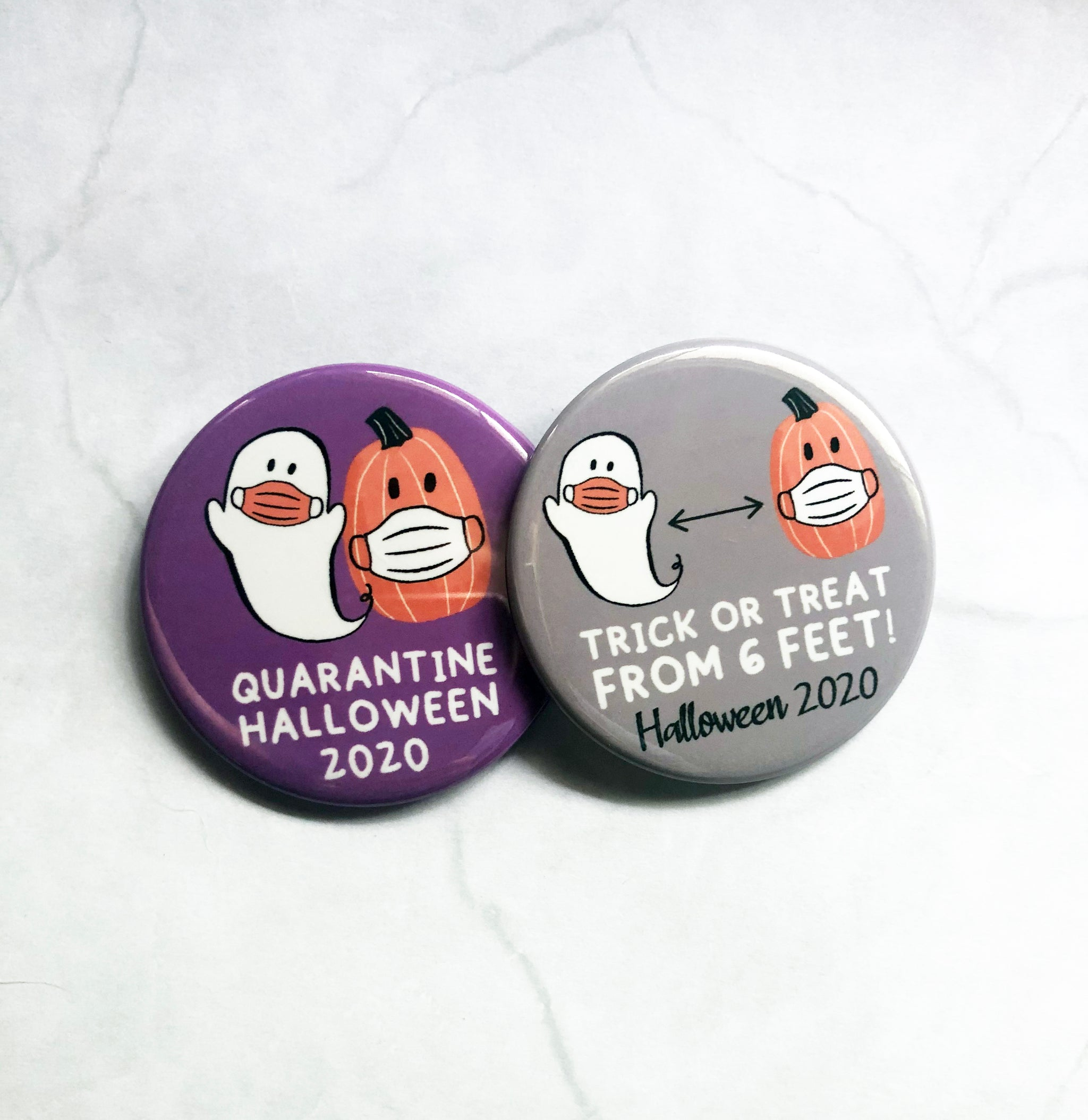 button // quarantine halloween 2020 // trick or treat from 6 feet