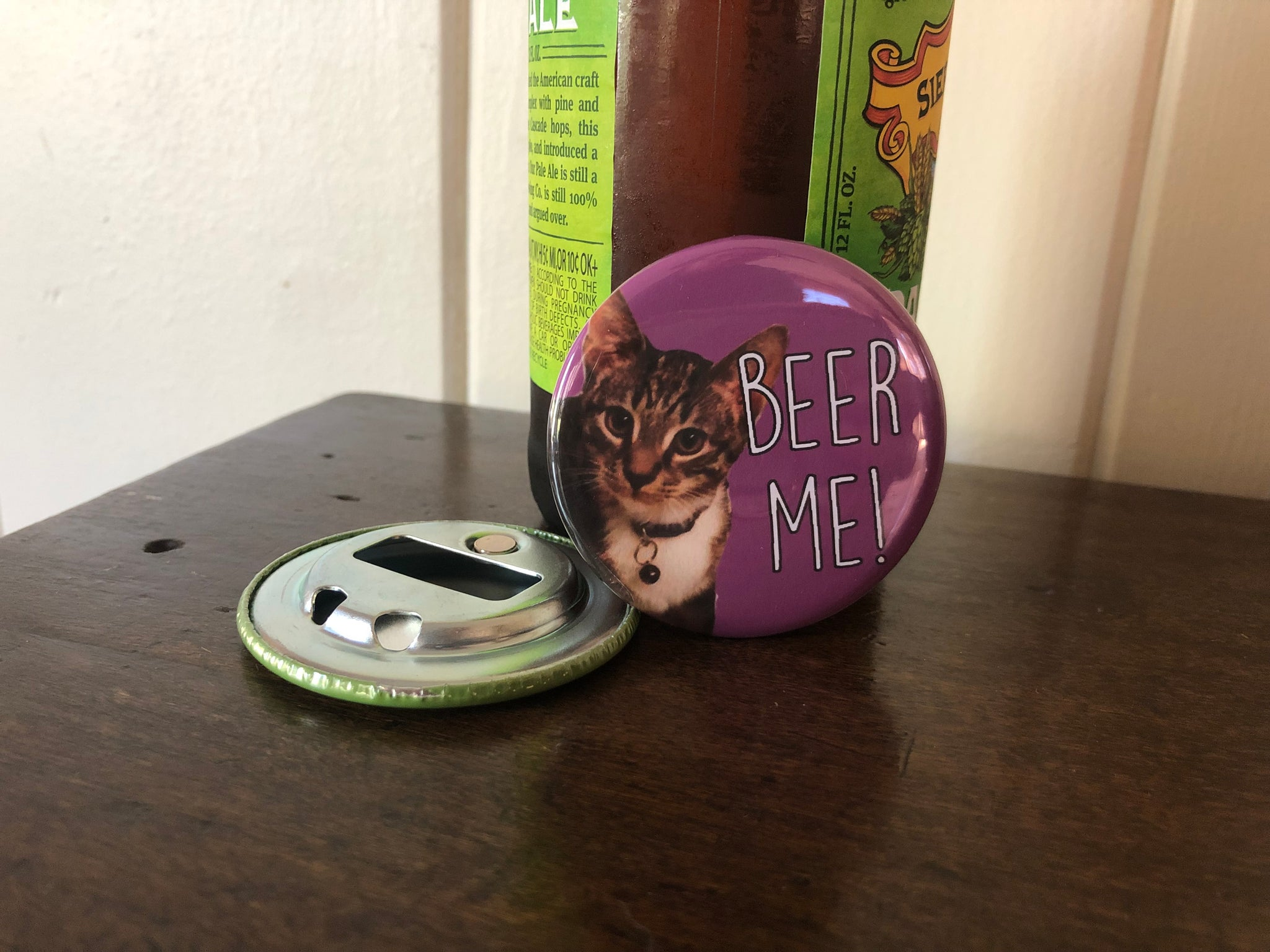 bottle opener magnet // pet photo // custom