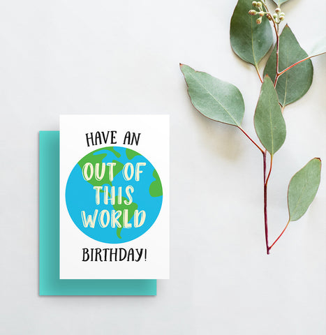 greeting card // have an out of this world birthday