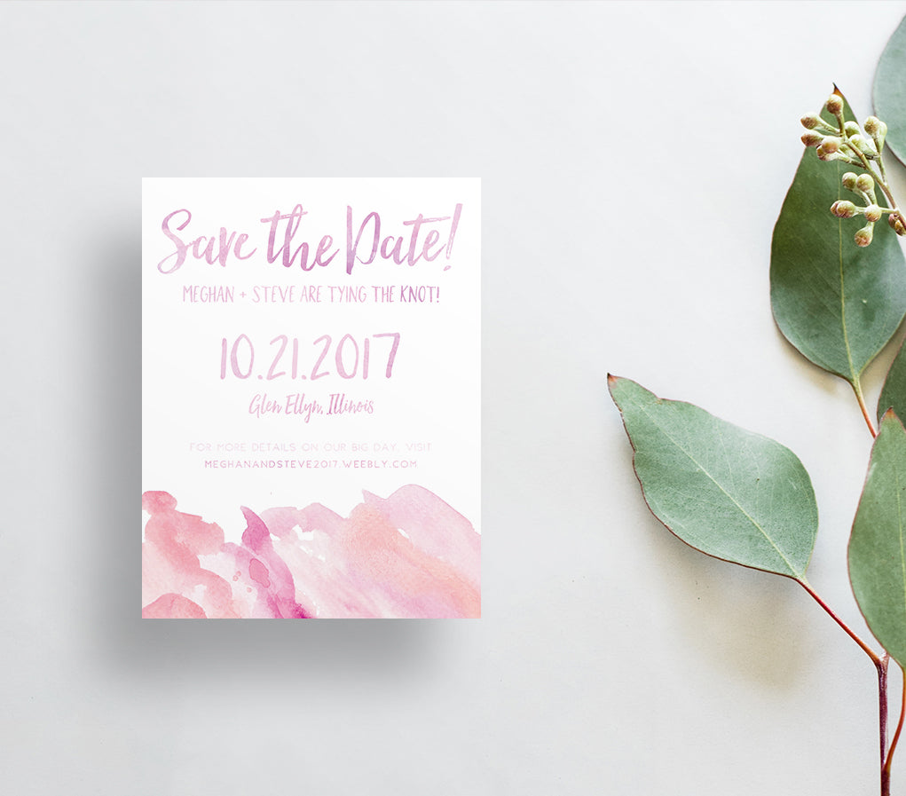 Watercolor Ombre Save the Dates / Brights & Neutrals