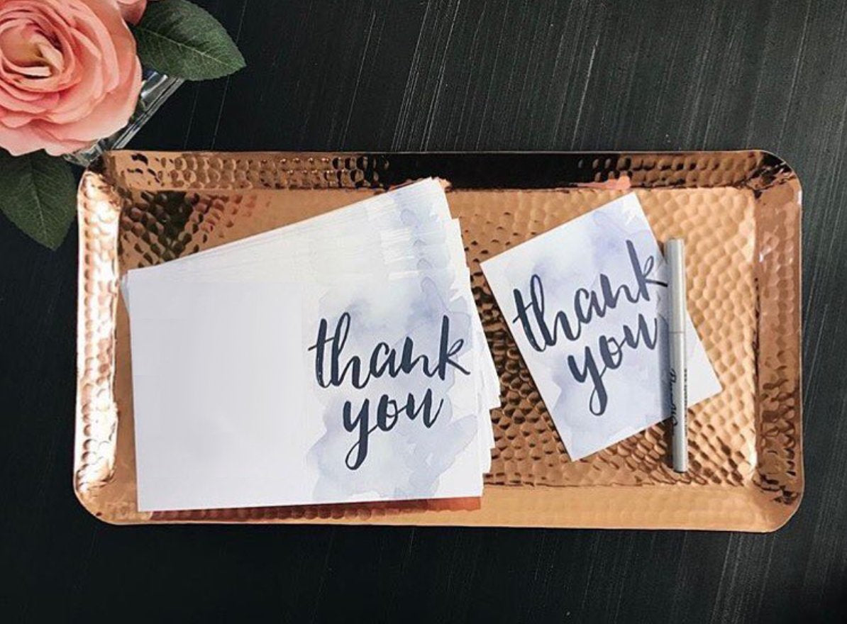 Watercolor Splash Thank You Cards