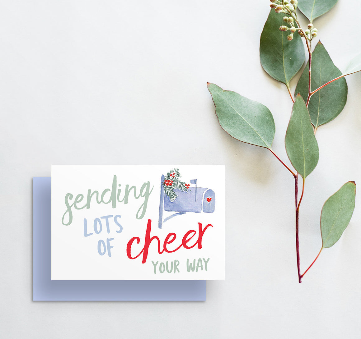 Sending Lots Of Cheer Your Way Holiday Greeting Card