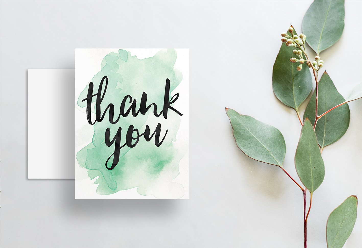 watercolor ombre thank you cards dunkirkdesigns