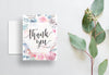 Watercolor Floral Thank You Cards  /  Pinks