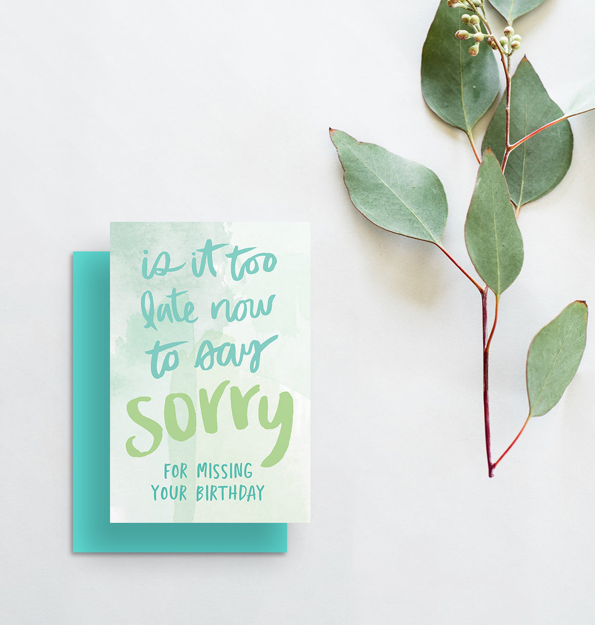 greeting card // is it too late now to say sorry i missed your birthday
