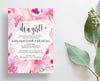 Watercolor Floral Party or Shower Invites  /  Pinks