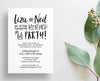 Brush Lettering Party or Shower Invites