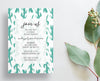 Cactus Desert Floral Party or Shower Invites
