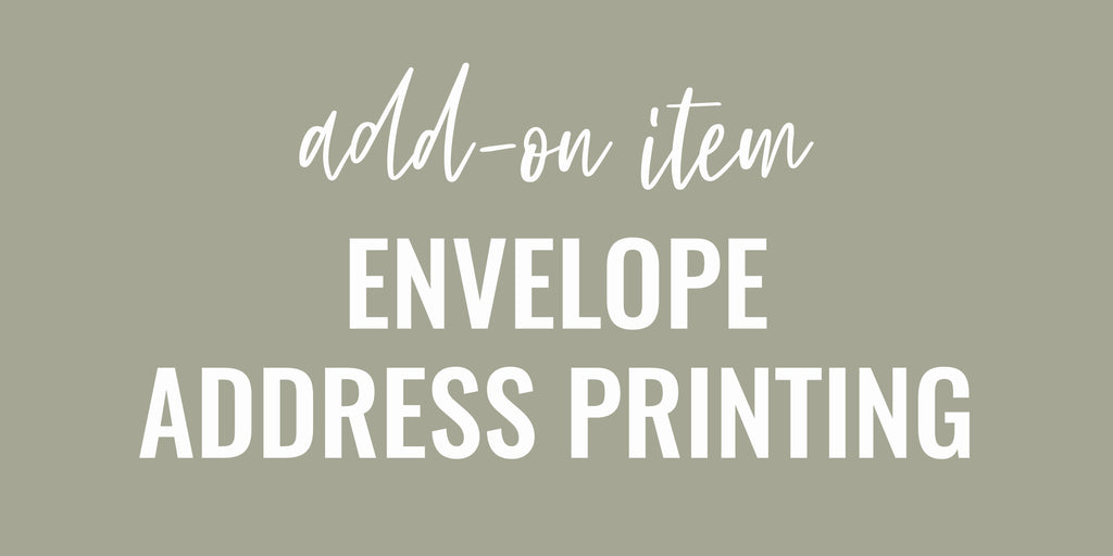 ENVELOPE ADDRESS PRINTING