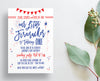Firecracker Fourth of July Birthday Party Invites