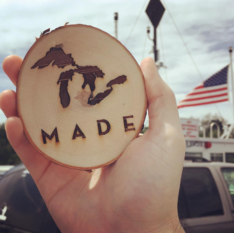 Great Lakes Made Selfie Coaster