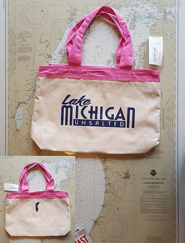 Michigan Unsalted Canvas Zippered Tote