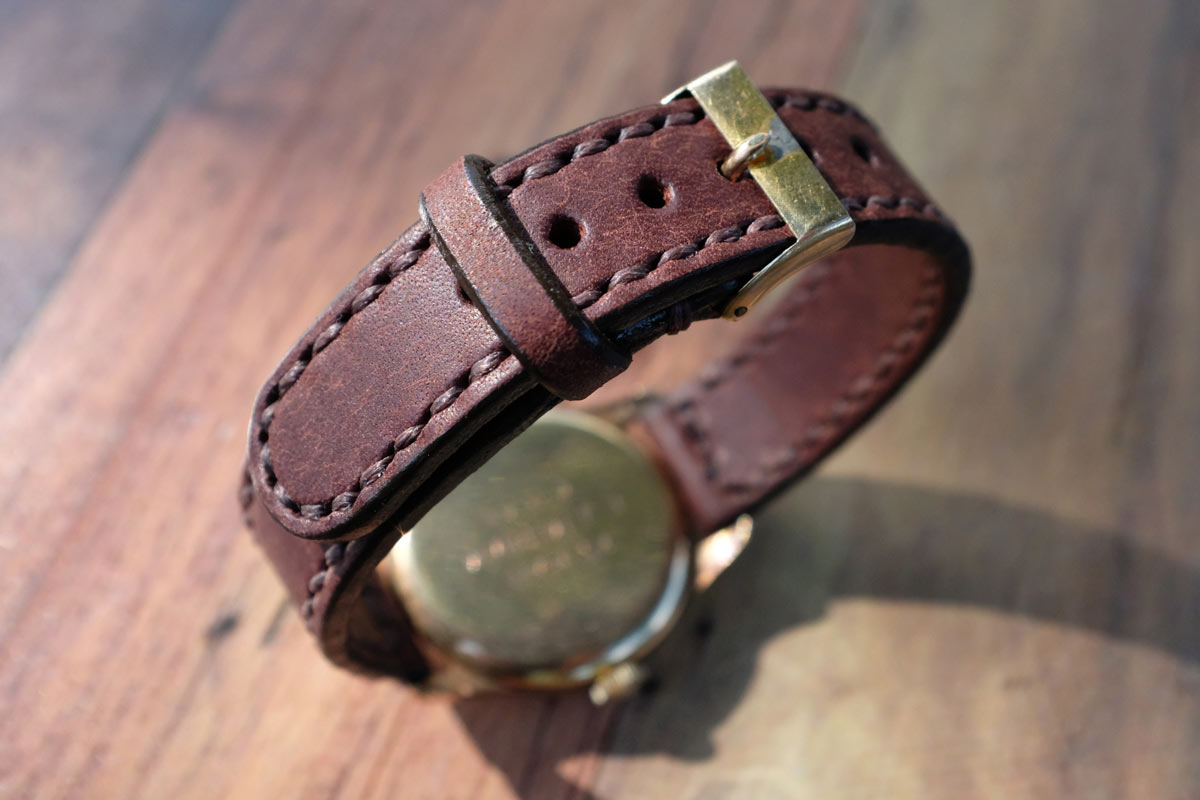 Handmade Leather Watch Strap Hide & Home