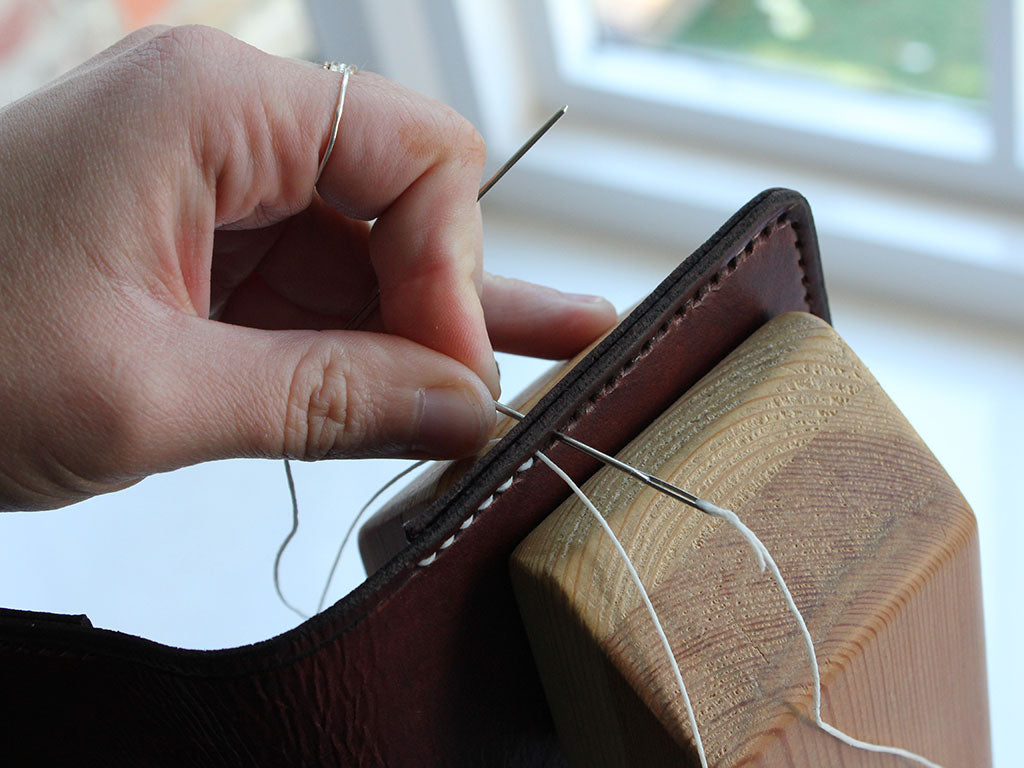 Hide & Home How to Hand Stitch Leather