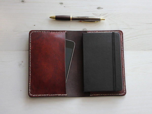Leather Notebook Cover A6 - Brown - Hide & Home - 1