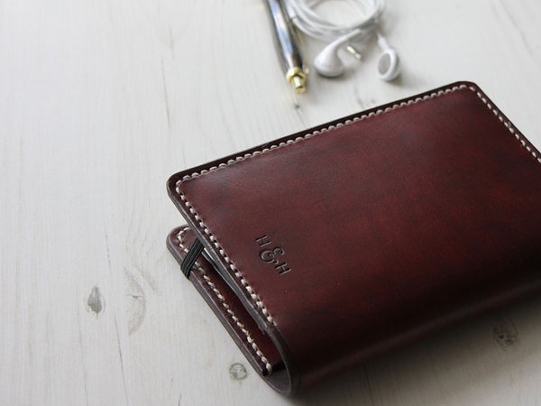 Leather Notebook Cover A6 - Brown - Hide & Home - 5
