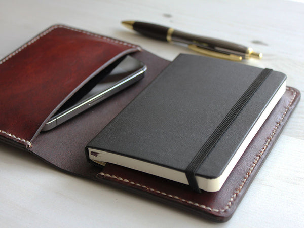 Leather Notebook Cover A6 - Brown - Hide & Home - 2