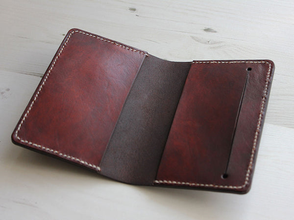 Leather Notebook Cover A6 - Brown - Hide & Home - 3