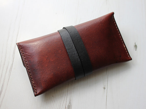 Leather Pencil Case - Brown - Hide & Home - 5