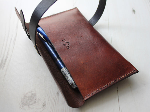 Leather Pencil Case - Brown - Hide & Home - 3