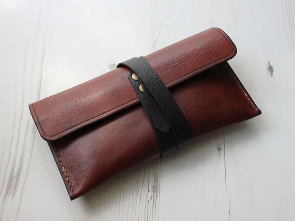 Leather Pencil Case - Brown - Hide & Home - 1
