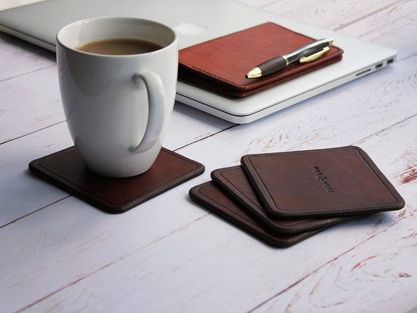 Classic Leather Coasters - Hide & Home - 2