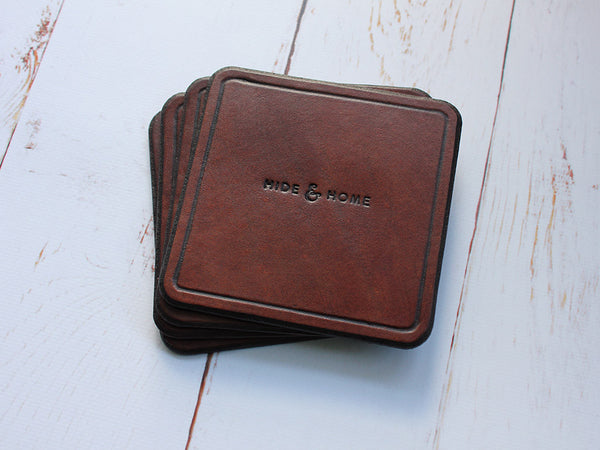 Classic Leather Coasters - Hide & Home - 1