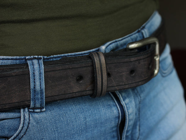 Leather Belt Unisex - Grey - Hide & Home - 5