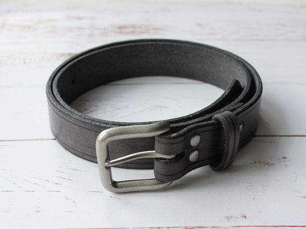 Leather Belt Unisex - Grey - Hide & Home - 3