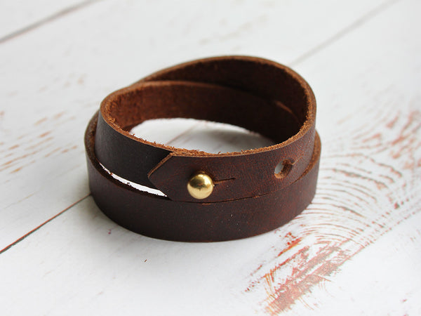 Leather Wrap Cuff - Hide & Home - 2