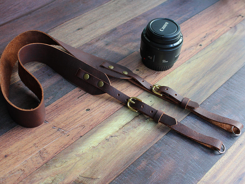 Handmade Leather Camera Strap - Hide & Home - 2