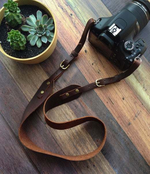 Handmade Leather Camera Strap - Hide & Home - 1