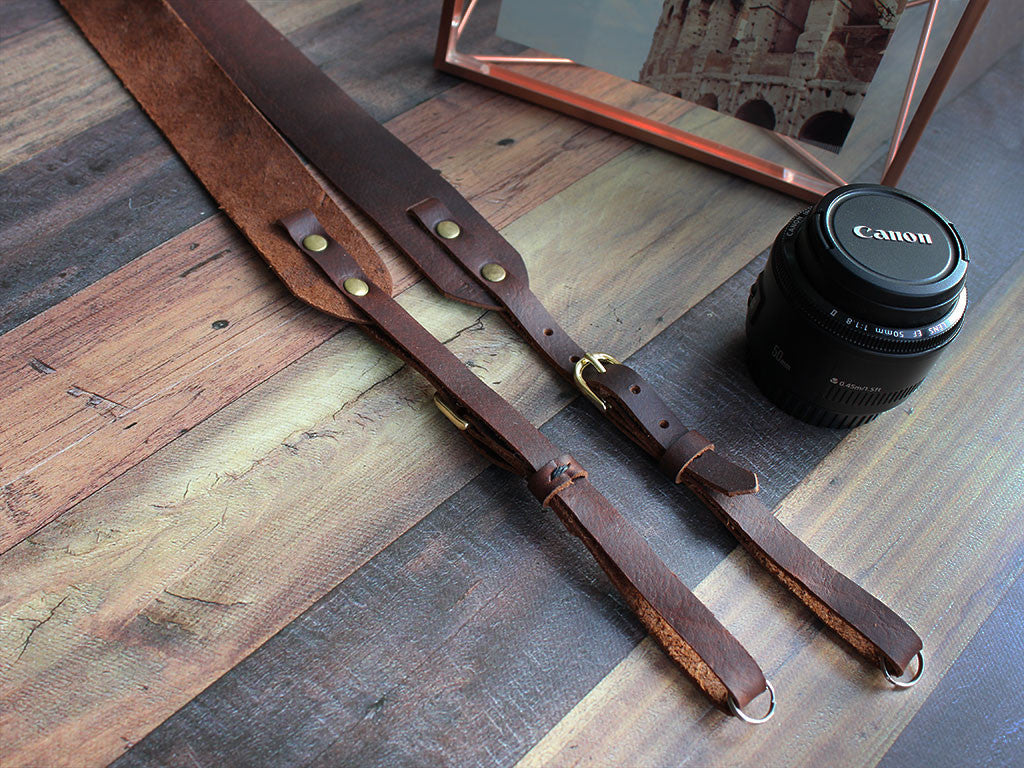 Handmade Leather Camera Strap - Hide & Home - 3