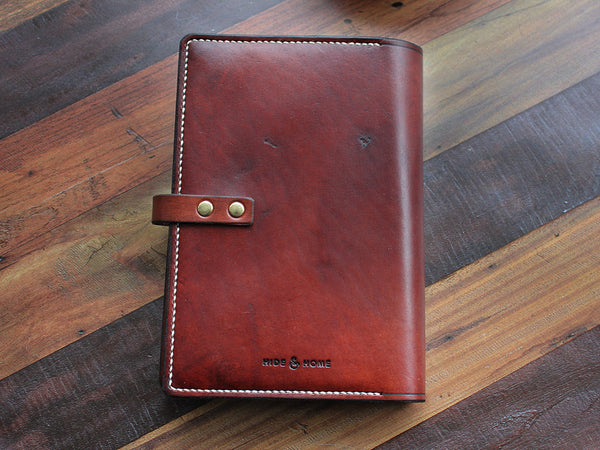 A5 Leather Notebook Cover - Brown - Hide & Home - 5
