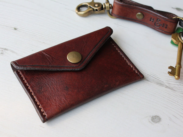 Slim Leather Button Wallet - Hide & Home - 2