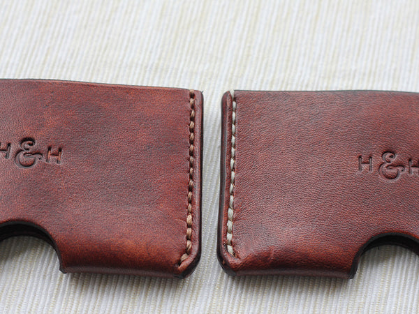 Slim Leather Card Holder - Brown - Hide & Home - 3