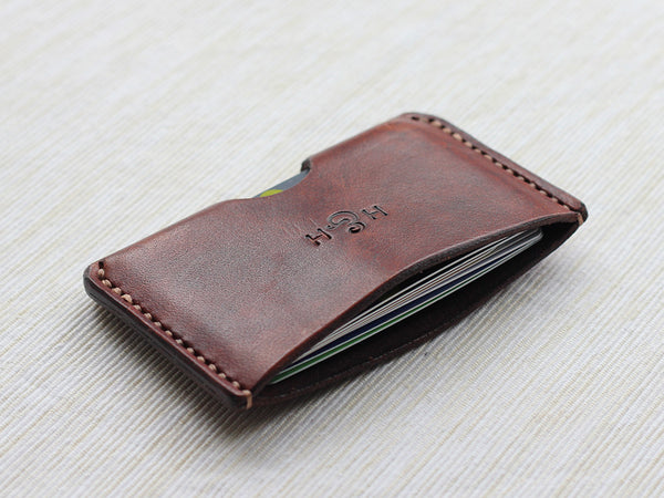 Slim Leather Card Holder - Brown - Hide & Home - 6