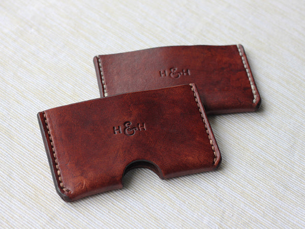 Slim Leather Card Holder - Brown - Hide & Home - 7