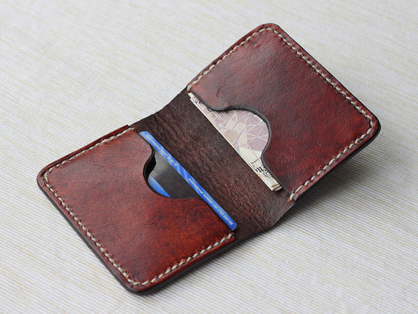 Slim Folding Leather Card Wallet - Hide & Home - 2