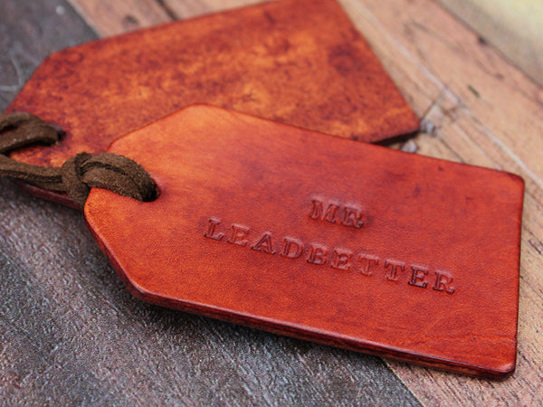 Personalised Leather Tags Set of Two - Hide & Home - 4