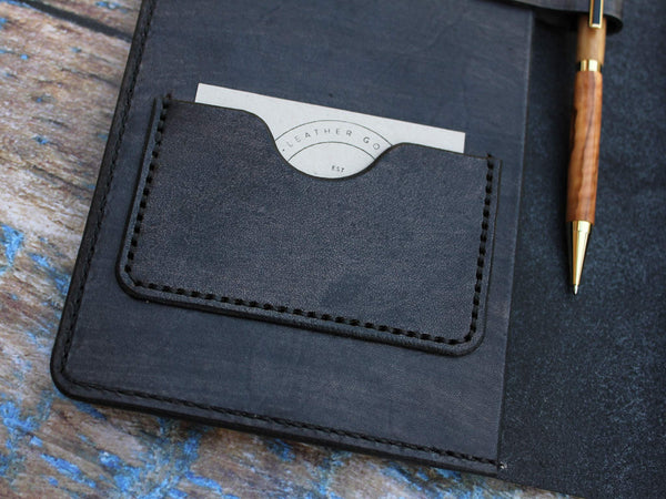 A5 Leather Notebook Cover - Grey - Hide & Home - 6