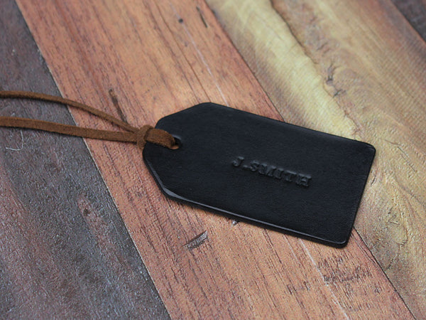 Custom Leather Travel Tag - Hide & Home - 3