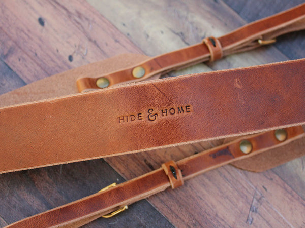 Leather Camera Strap in Horween Dublin - Hide & Home - 5