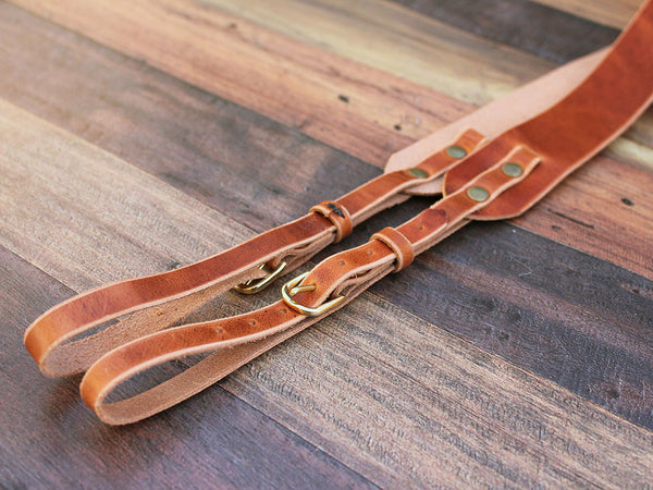 Leather Camera Strap in Horween Dublin - Hide & Home - 6