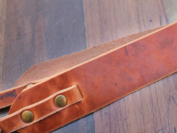 Leather Camera Strap in Horween Dublin - Hide & Home - 3