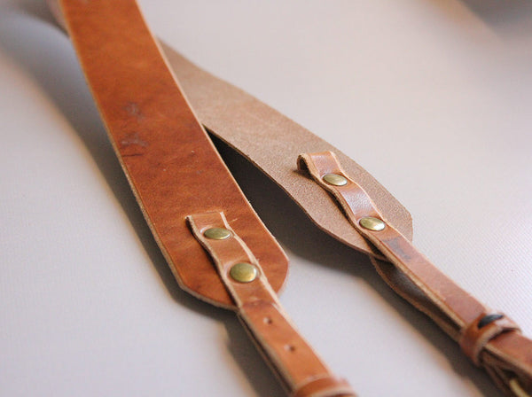 Leather Camera Strap in Horween Dublin - Hide & Home - 7