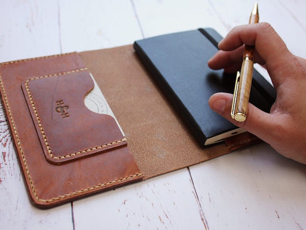 Leather Notebook Cover A6 - Horween Dublin