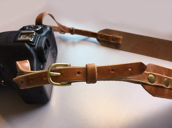 Leather Camera Strap in Horween Dublin - Hide & Home - 8