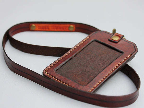 Leather ID Holder with Lanyard - Hide & Home - 1