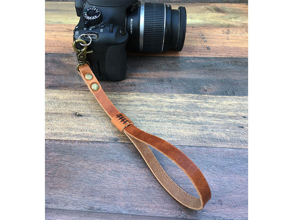 Leather Camera Hand Strap - Horween Dublin